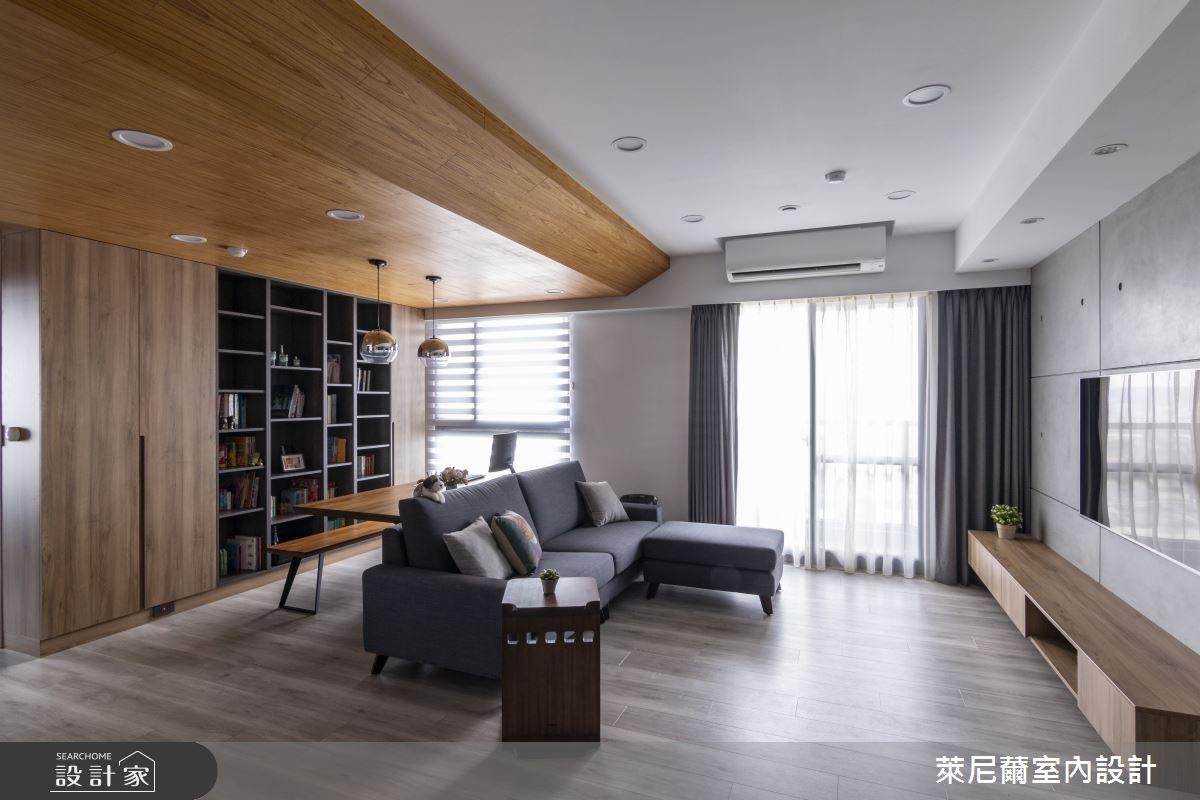 28坪預售屋_混搭風客廳書房案例圖片_萊尼薾室內設計有限公司_萊尼薾_05之4