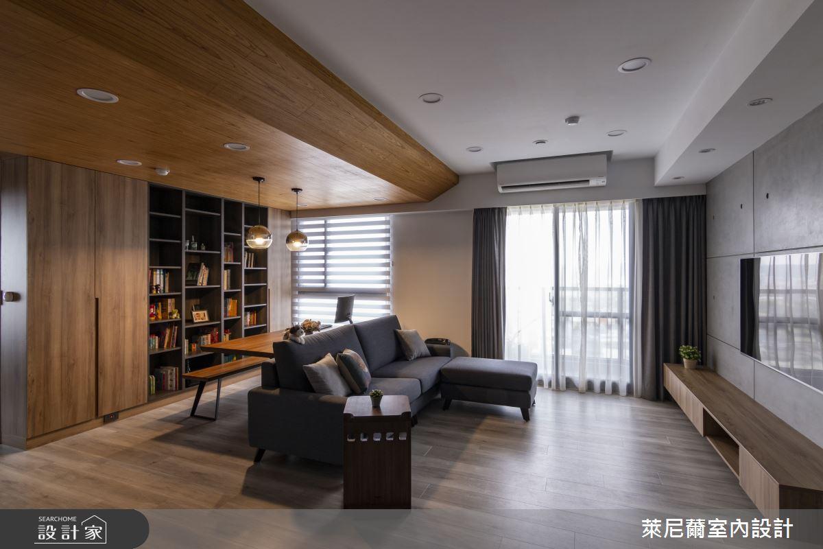 28坪預售屋_混搭風客廳書房案例圖片_萊尼薾室內設計有限公司_萊尼薾_05之5