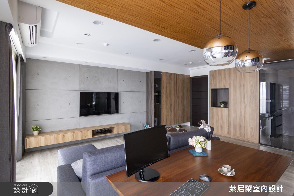 28坪預售屋_混搭風客廳書房案例圖片_萊尼薾室內設計有限公司_萊尼薾_05之9