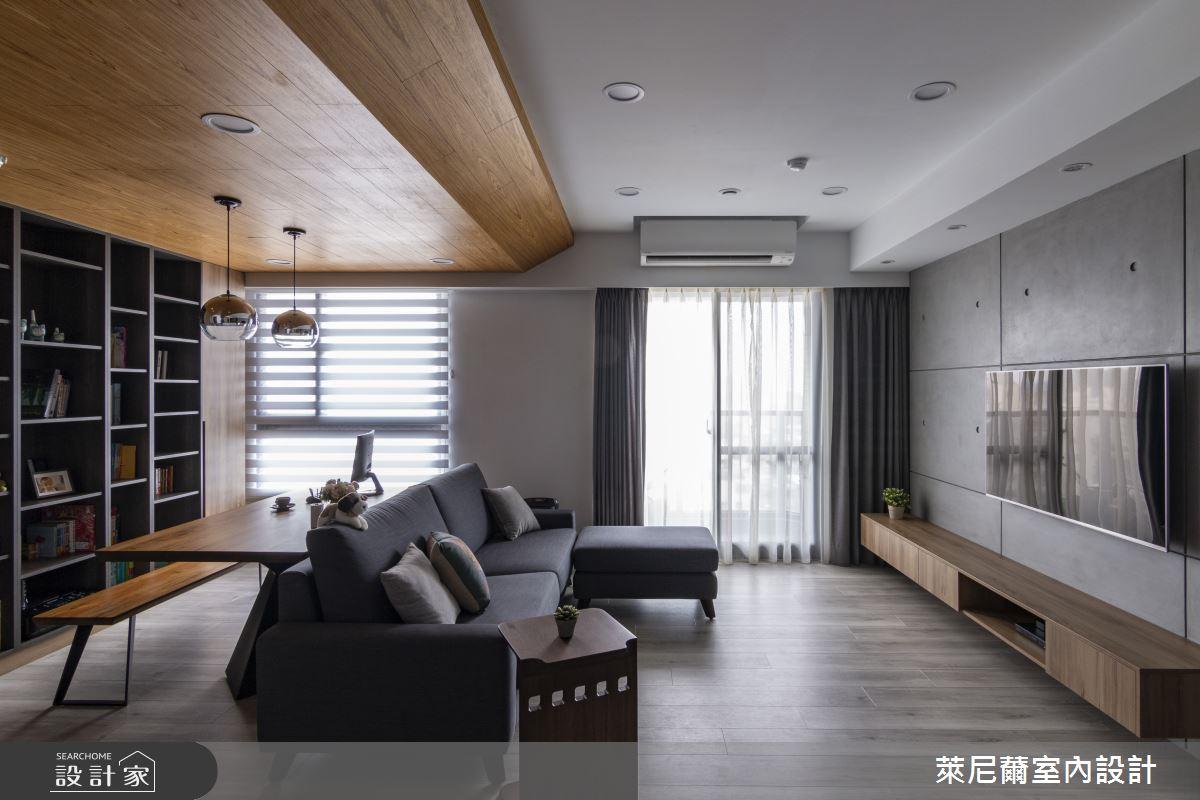 28坪預售屋_混搭風客廳書房案例圖片_萊尼薾室內設計有限公司_萊尼薾_05之6