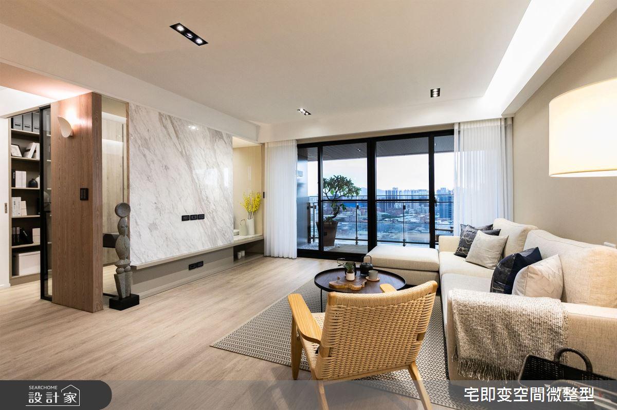 42坪新成屋(5年以下)_人文禪風客廳案例圖片_宅即變空間微整型_宅即變_01之4
