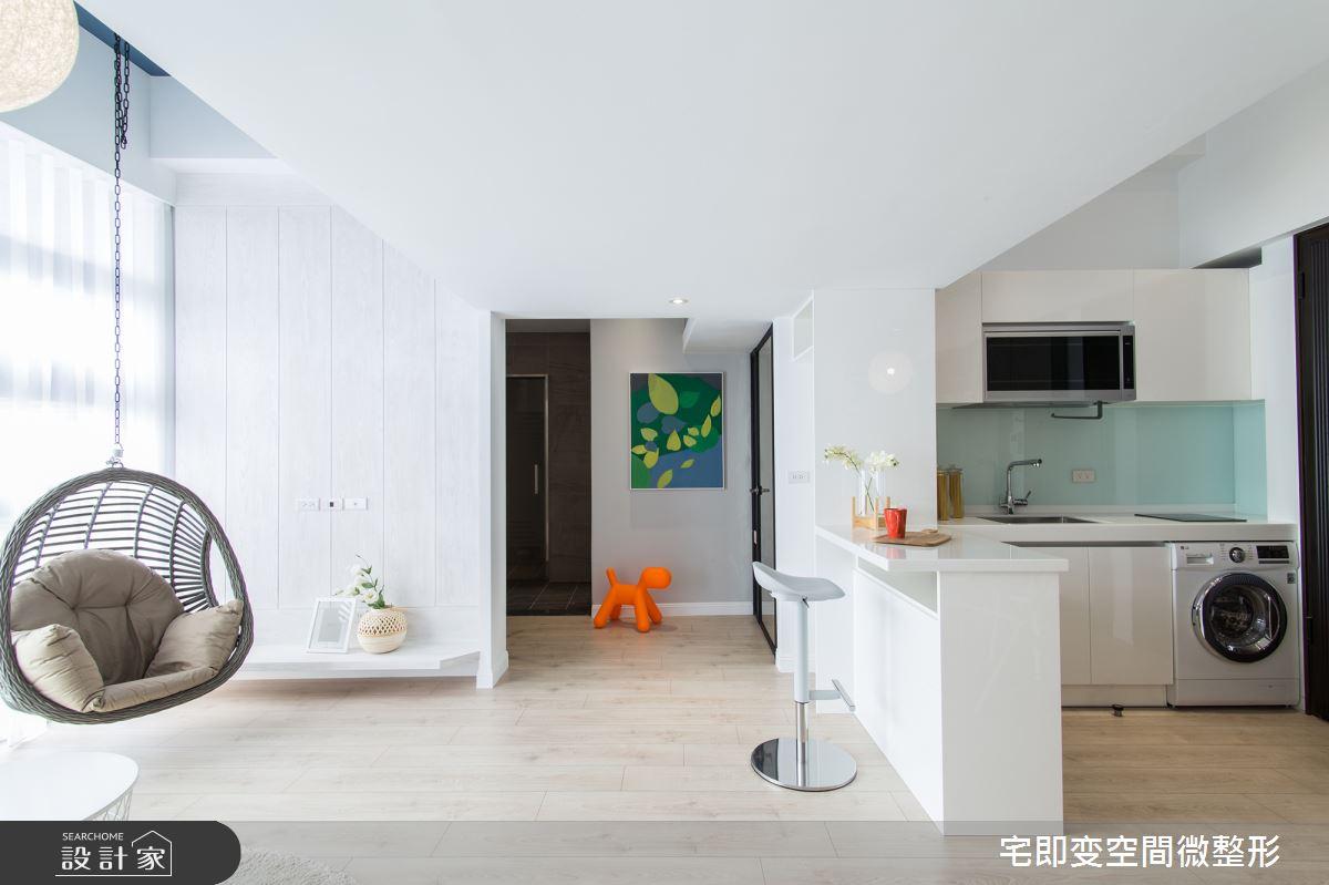18坪新成屋(5年以下)_北歐風廚房案例圖片_宅即變空間微整型_宅即變_10之13
