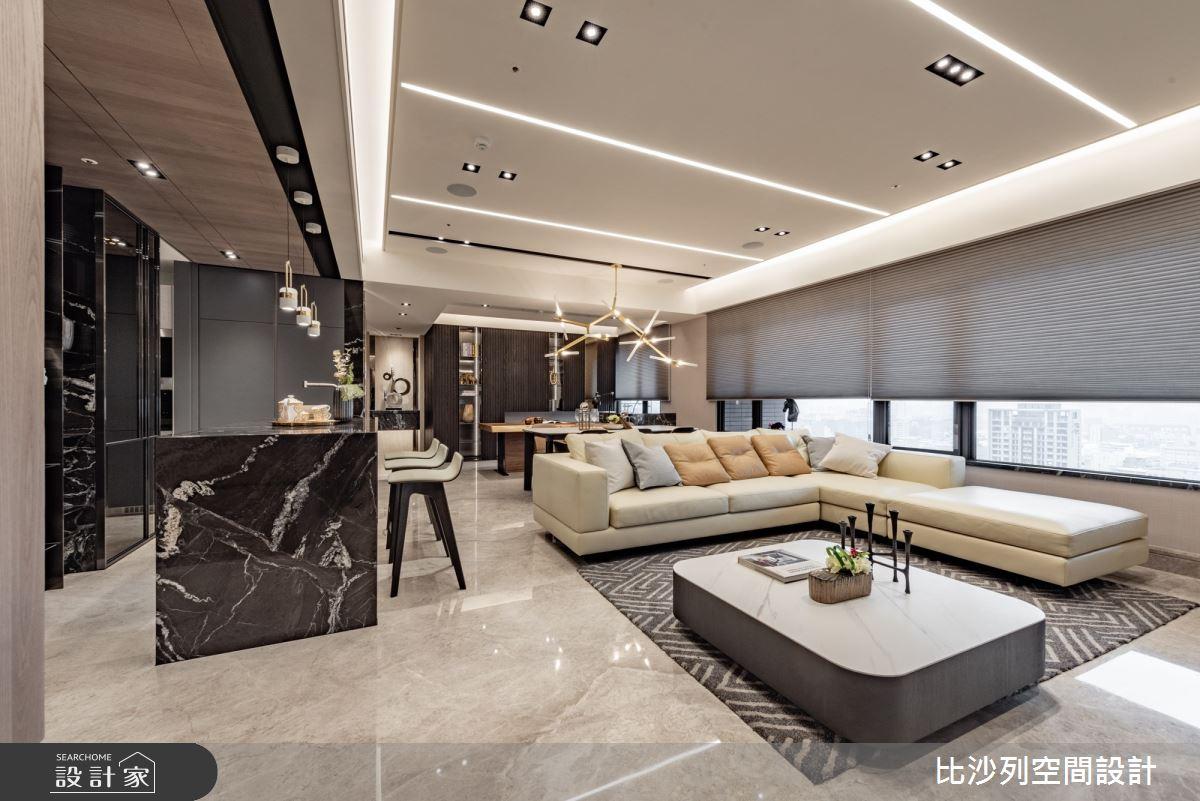 57坪新成屋(5年以下)_現代風客廳吧檯案例圖片_比沙列空間設計_比沙列_01之2