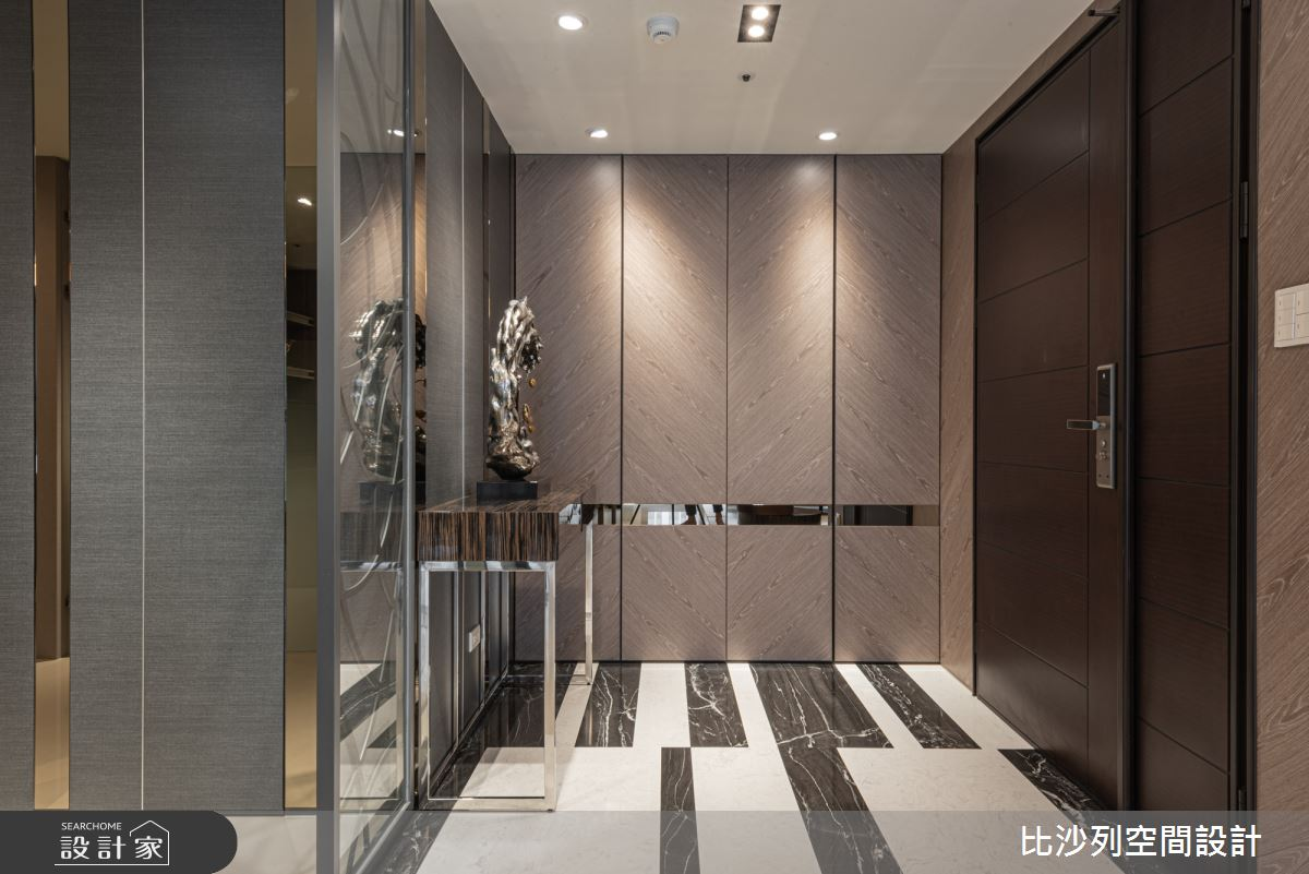 35坪新成屋(5年以下)_現代風玄關案例圖片_比沙列空間設計_比沙列_03之2