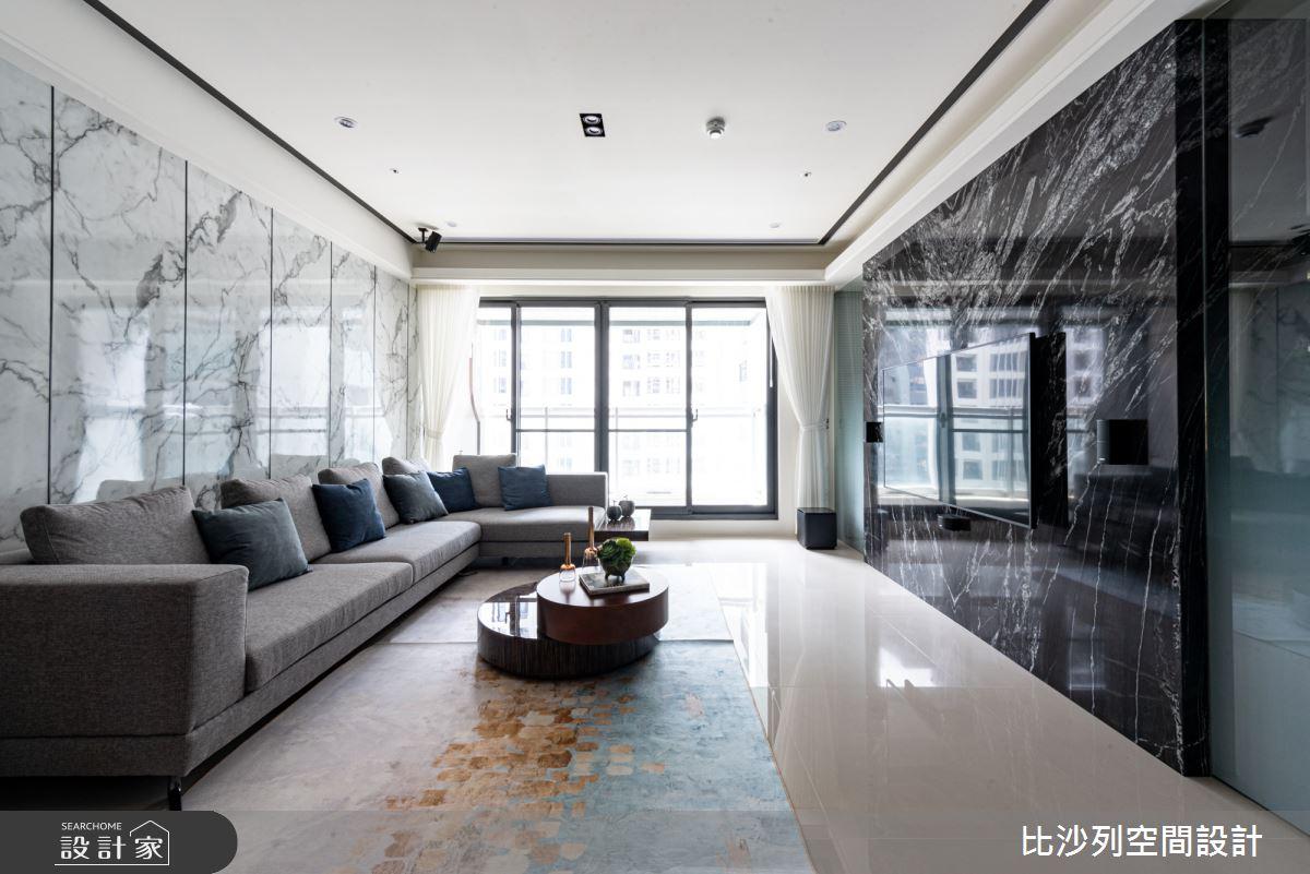 35坪新成屋(5年以下)_現代風客廳案例圖片_比沙列空間設計_比沙列_03之4