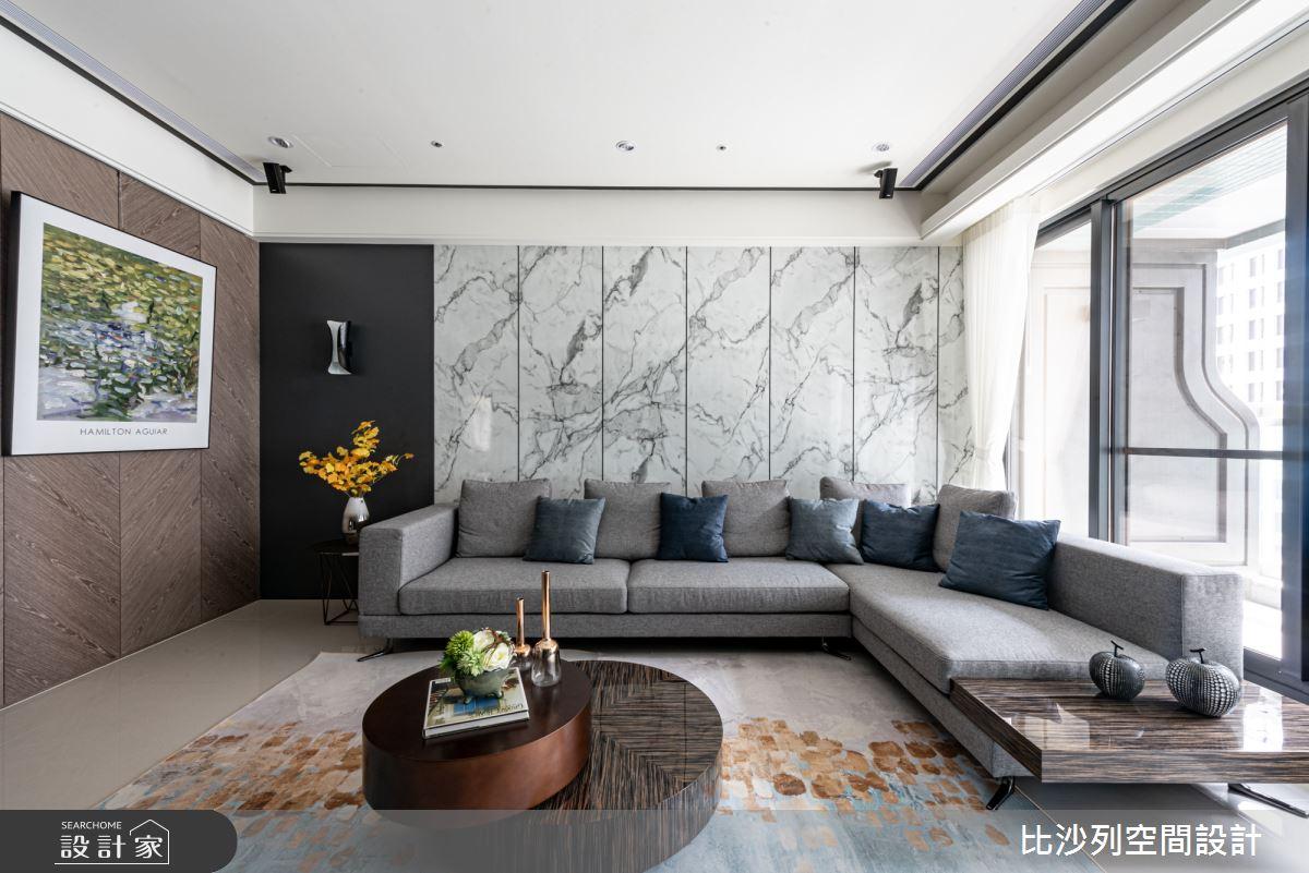 35坪新成屋(5年以下)_現代風客廳案例圖片_比沙列空間設計_比沙列_03之5