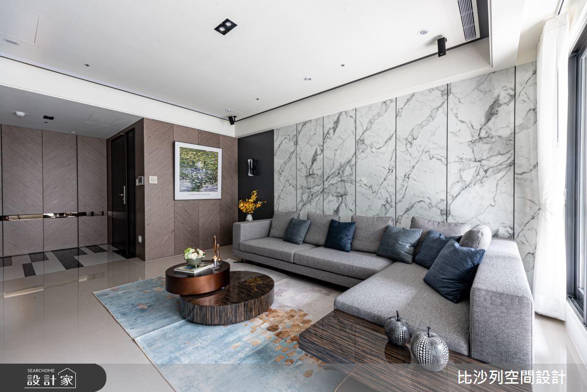 35坪新成屋(5年以下)_現代風客廳案例圖片_比沙列空間設計_比沙列_03之6