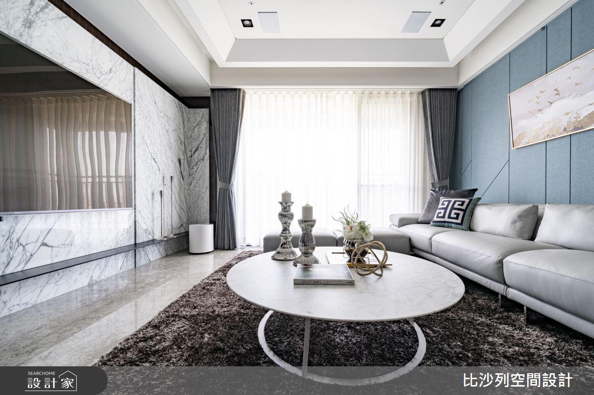 34坪新成屋(5年以下)_奢華風客廳案例圖片_比沙列空間設計_比沙列_06之4