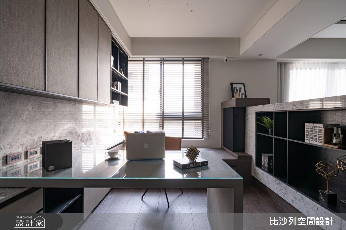 90坪新成屋(5年以下)_現代風書房案例圖片_比沙列空間設計_比沙列_07之17