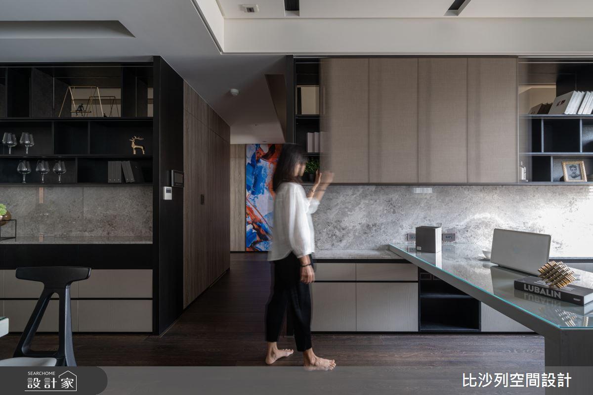 90坪新成屋(5年以下)_現代風書房案例圖片_比沙列空間設計_比沙列_07之20