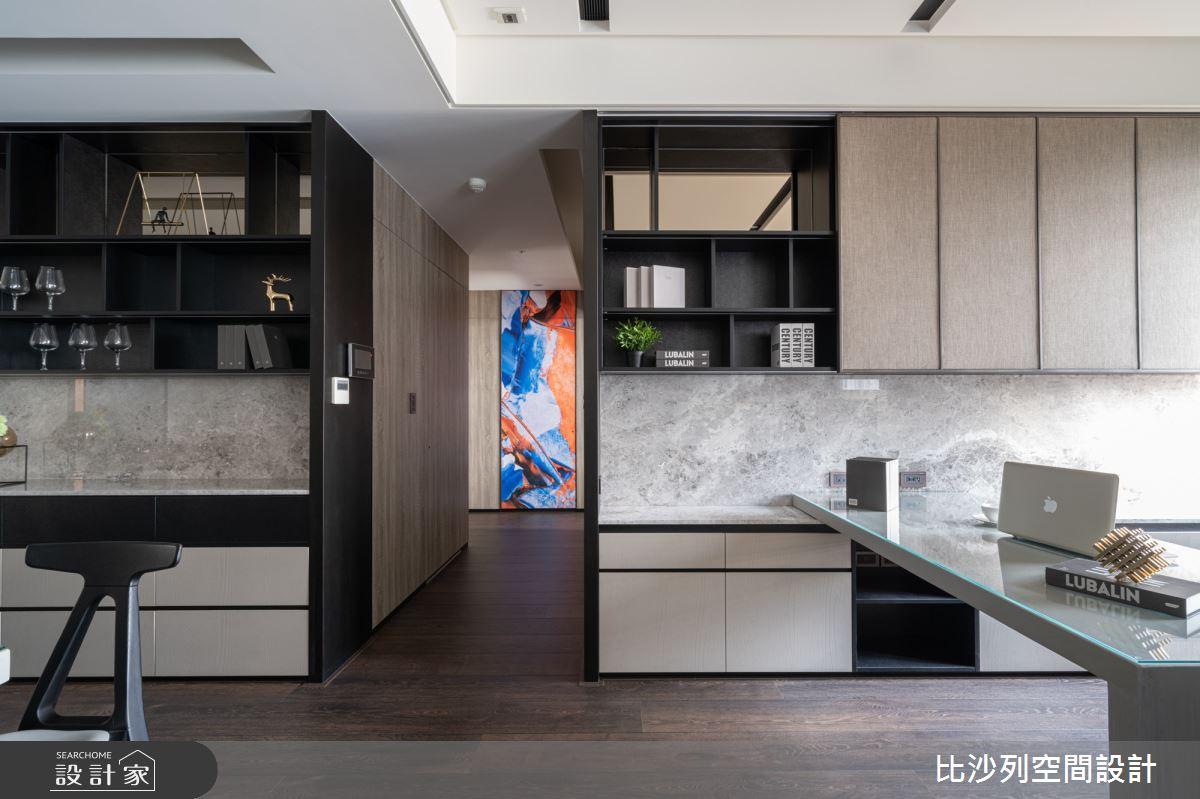 90坪新成屋(5年以下)_現代風書房案例圖片_比沙列空間設計_比沙列_07之21