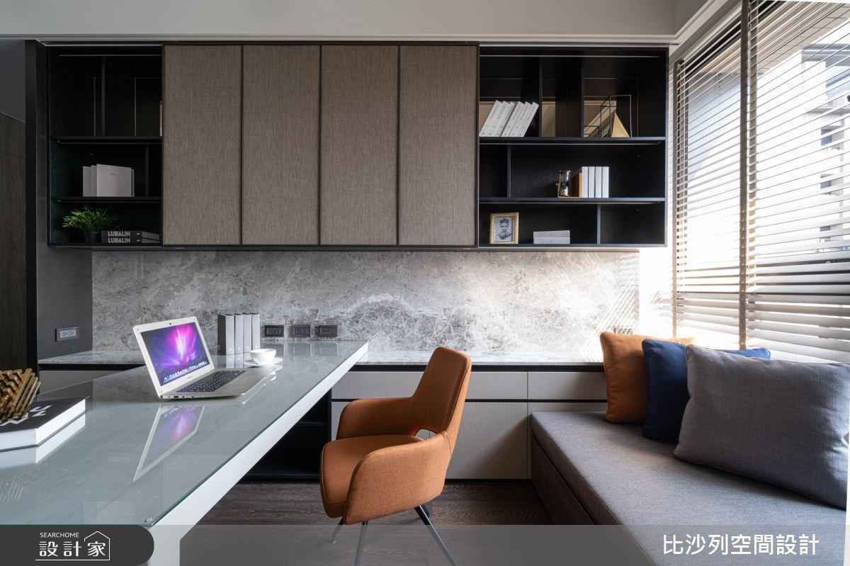 90坪新成屋(5年以下)_現代風書房案例圖片_比沙列空間設計_比沙列_07之22
