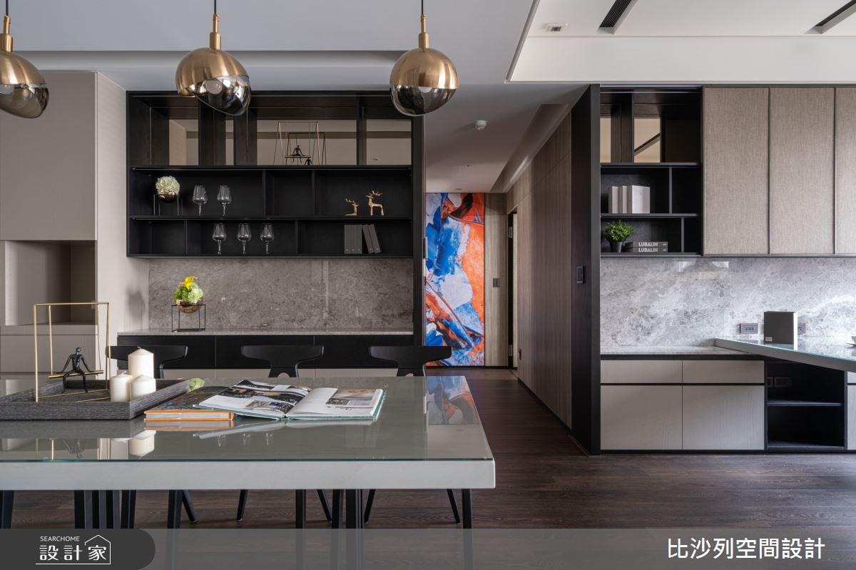 90坪新成屋(5年以下)_現代風餐廳案例圖片_比沙列空間設計_比沙列_07之23