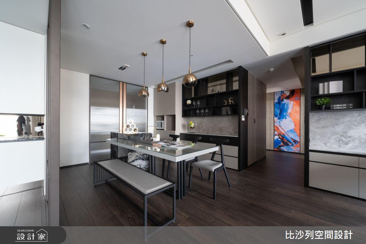 90坪新成屋(5年以下)_現代風餐廳案例圖片_比沙列空間設計_比沙列_07之24
