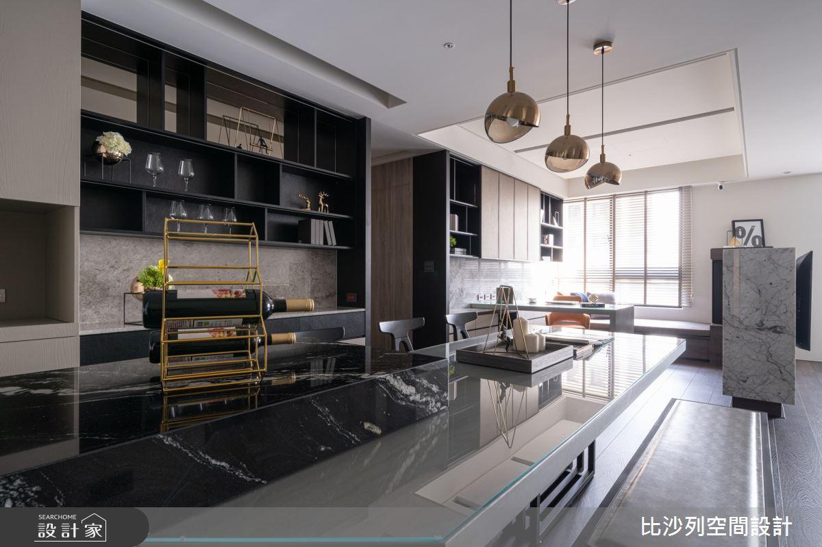 90坪新成屋(5年以下)_現代風餐廳案例圖片_比沙列空間設計_比沙列_07之27