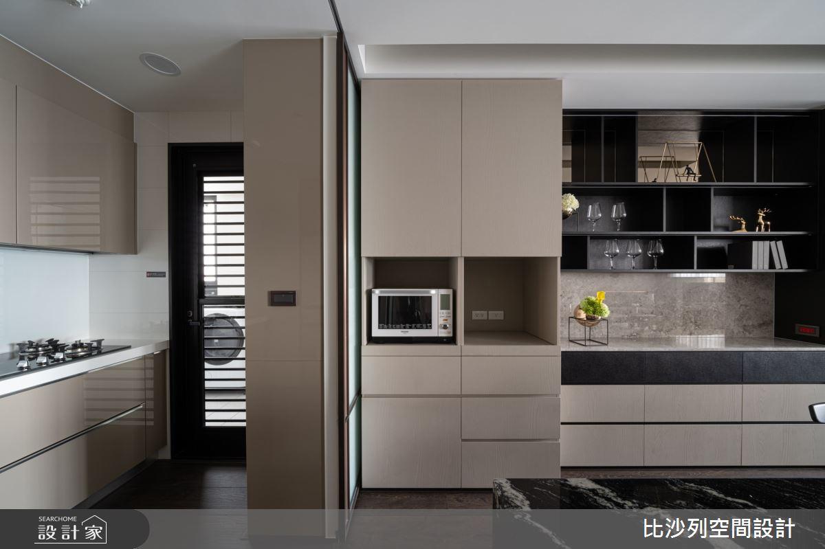 90坪新成屋(5年以下)_現代風廚房案例圖片_比沙列空間設計_比沙列_07之29