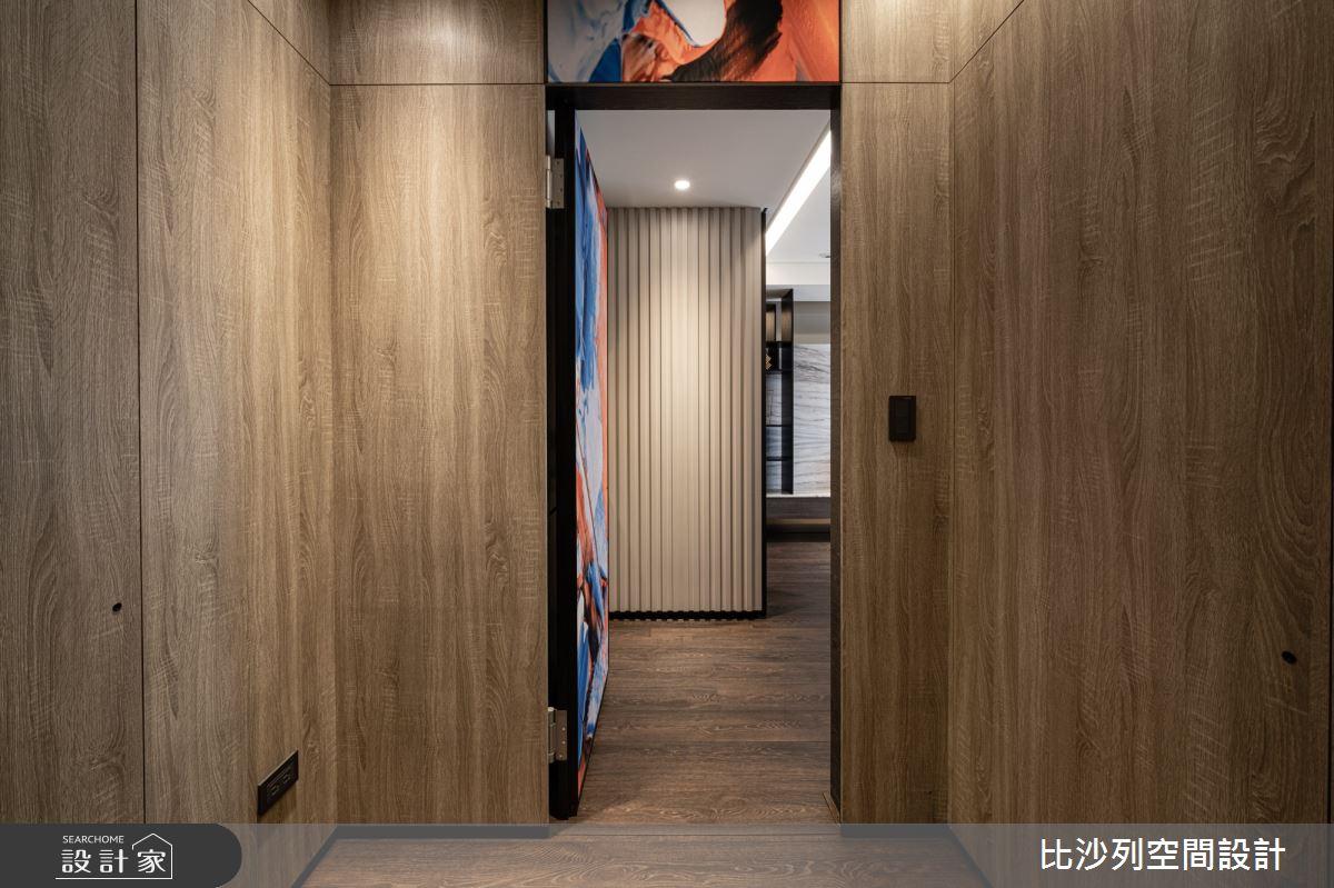90坪新成屋(5年以下)_現代風走廊案例圖片_比沙列空間設計_比沙列_07之32