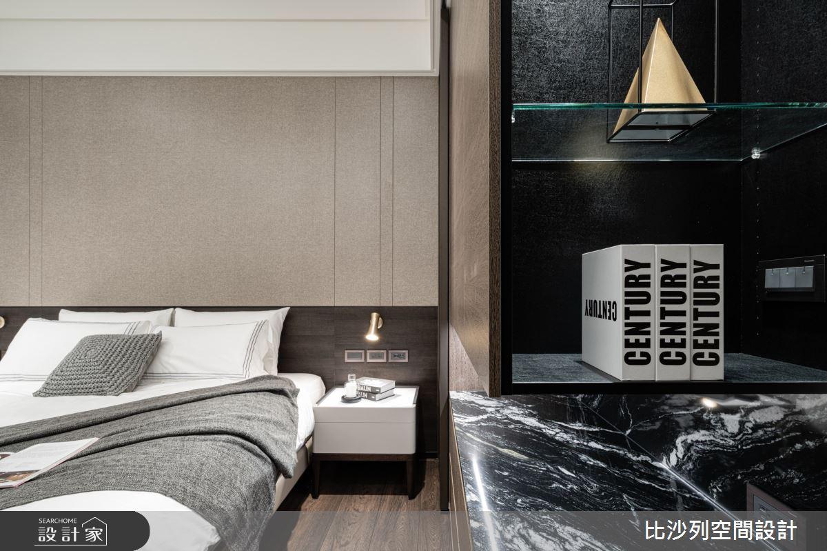 90坪新成屋(5年以下)_現代風臥室案例圖片_比沙列空間設計_比沙列_07之49