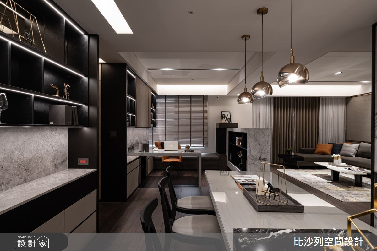 90坪新成屋(5年以下)_現代風餐廳案例圖片_比沙列空間設計_比沙列_07之80