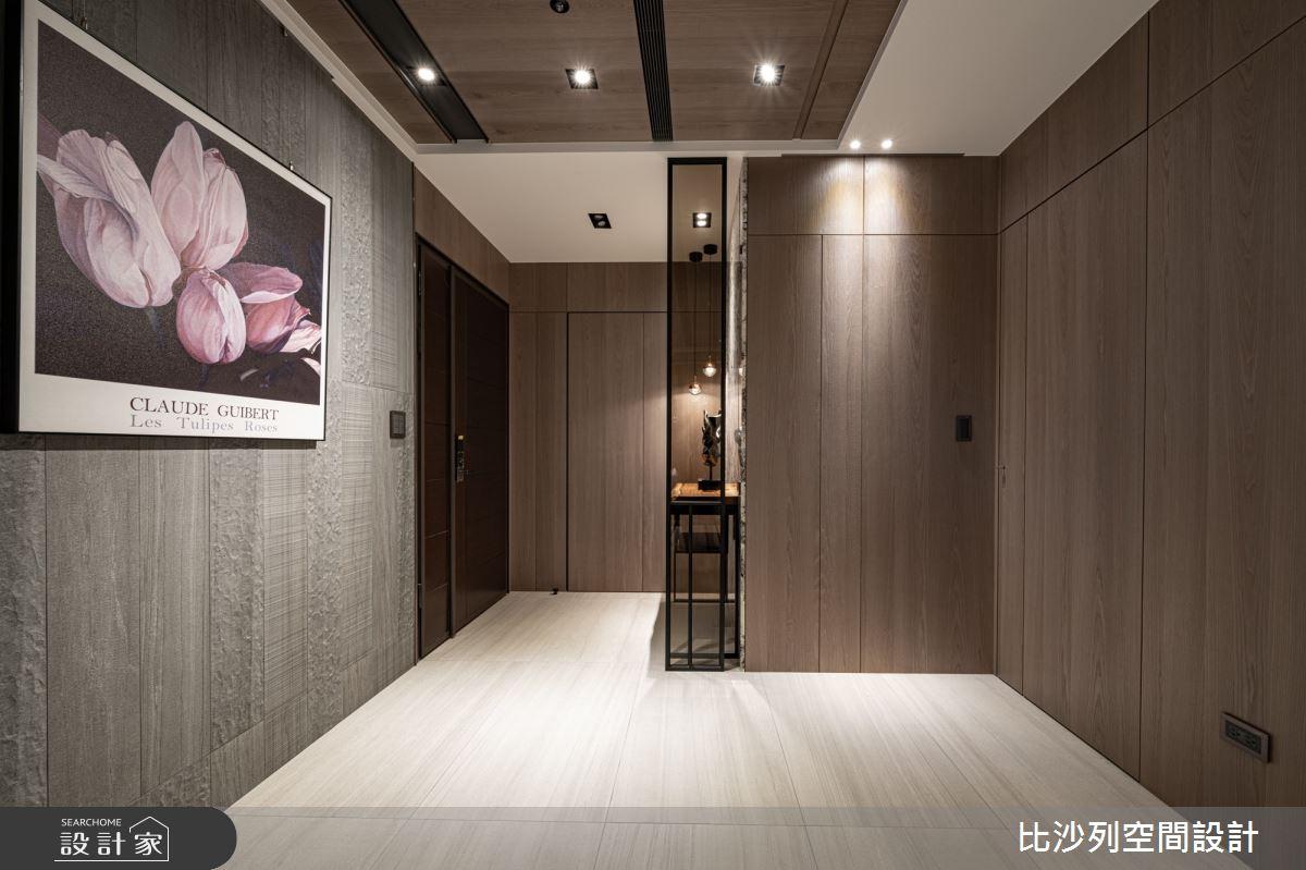 40坪新成屋(5年以下)_現代風玄關案例圖片_比沙列空間設計_比沙列_08之2