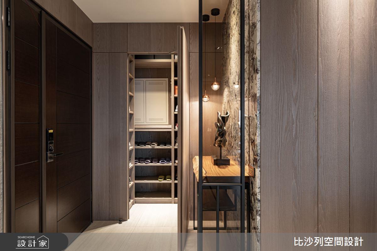40坪新成屋(5年以下)_現代風玄關案例圖片_比沙列空間設計_比沙列_08之3
