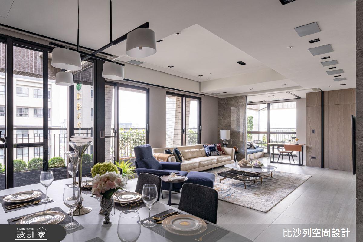 40坪新成屋(5年以下)_現代風客廳餐廳案例圖片_比沙列空間設計_比沙列_08之4
