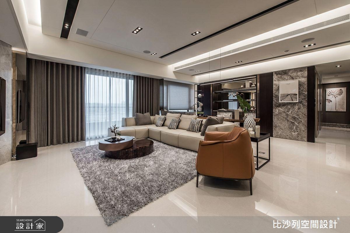 46坪新成屋(5年以下)_現代風客廳案例圖片_比沙列空間設計_比沙列_09之2