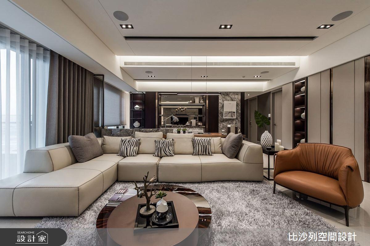 46坪新成屋(5年以下)_現代風客廳案例圖片_比沙列空間設計_比沙列_09之4