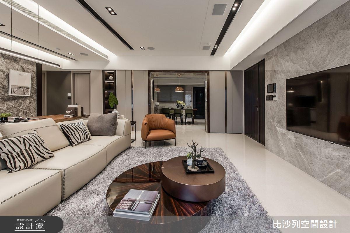 46坪新成屋(5年以下)_現代風客廳案例圖片_比沙列空間設計_比沙列_09之6