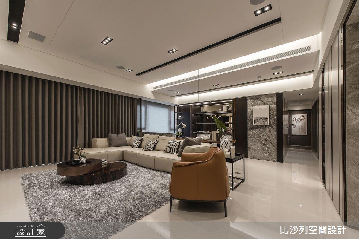 46坪新成屋(5年以下)_現代風客廳案例圖片_比沙列空間設計_比沙列_09之3