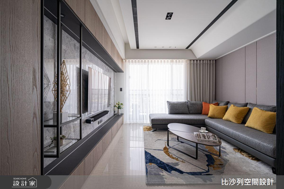 55坪新成屋(5年以下)_現代風客廳案例圖片_比沙列空間設計_比沙列_15之3