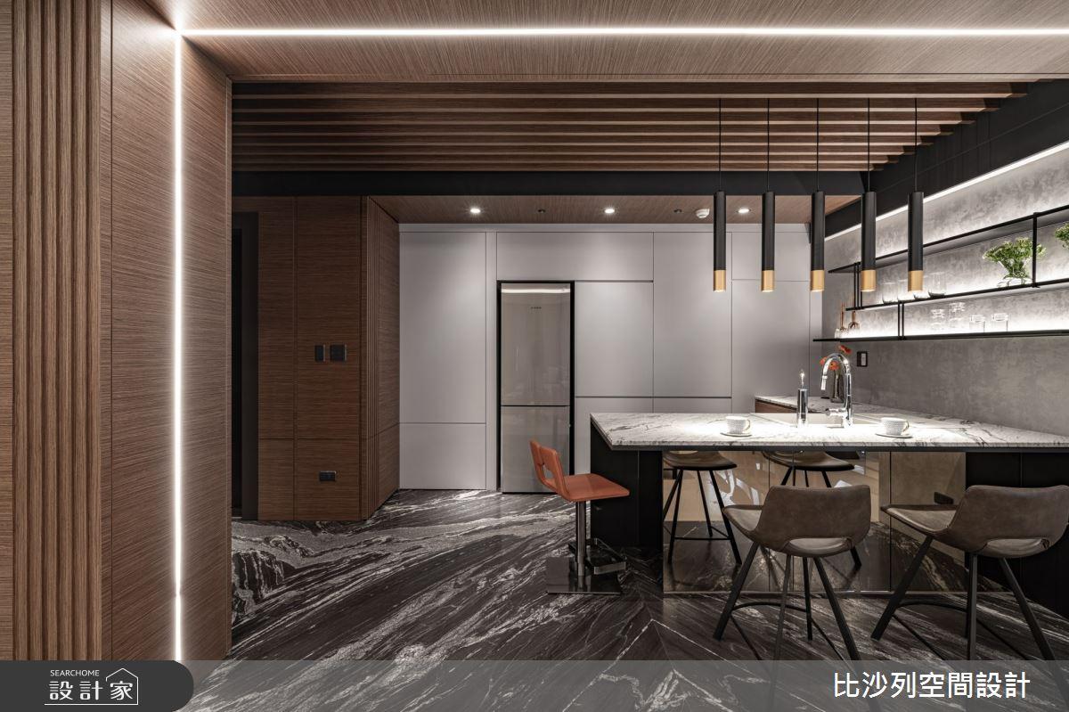 60坪新成屋(5年以下)_現代風中島案例圖片_比沙列空間設計_比沙列_16之4