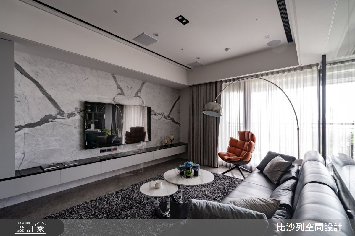 60坪預售屋_混搭風客廳案例圖片_比沙列空間設計_比沙列_17之11