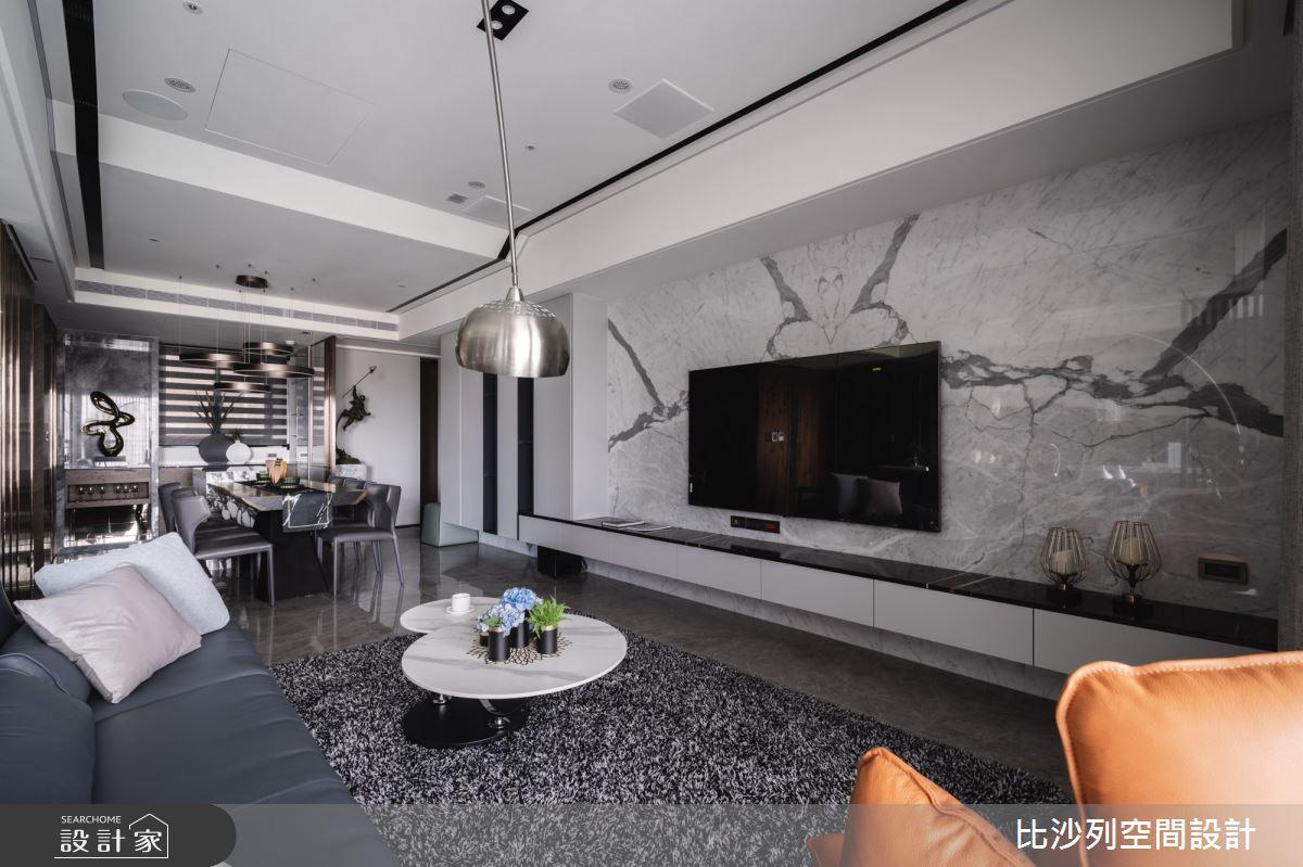 60坪預售屋_混搭風客廳案例圖片_比沙列空間設計_比沙列_17之12
