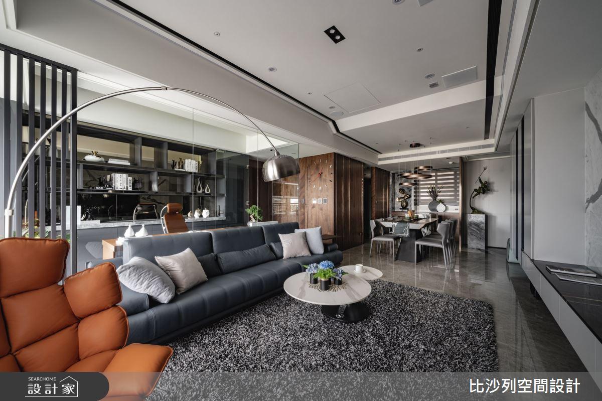 60坪預售屋_混搭風客廳案例圖片_比沙列空間設計_比沙列_17之13
