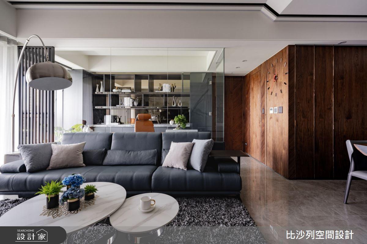 60坪預售屋_混搭風客廳案例圖片_比沙列空間設計_比沙列_17之14