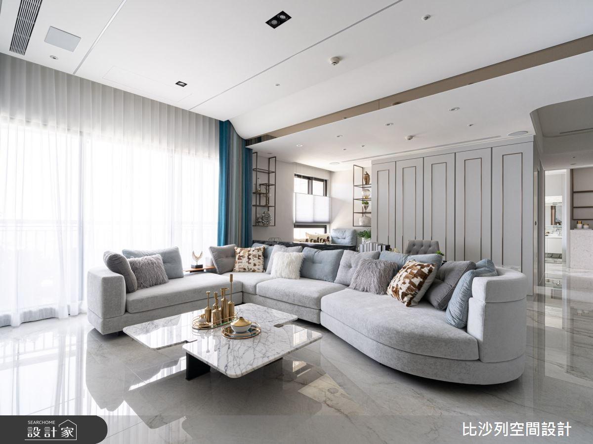 60坪預售屋_混搭風客廳案例圖片_比沙列空間設計_比沙列_18之6