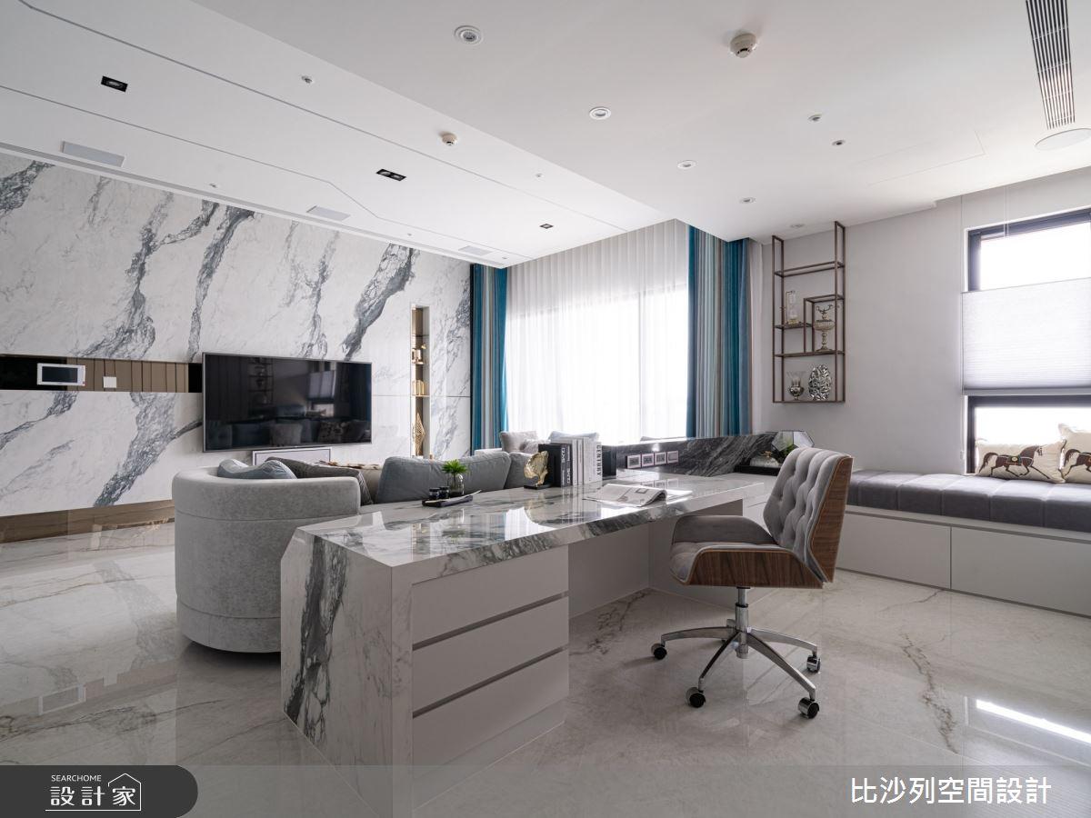 60坪預售屋_混搭風書房案例圖片_比沙列空間設計_比沙列_18之12
