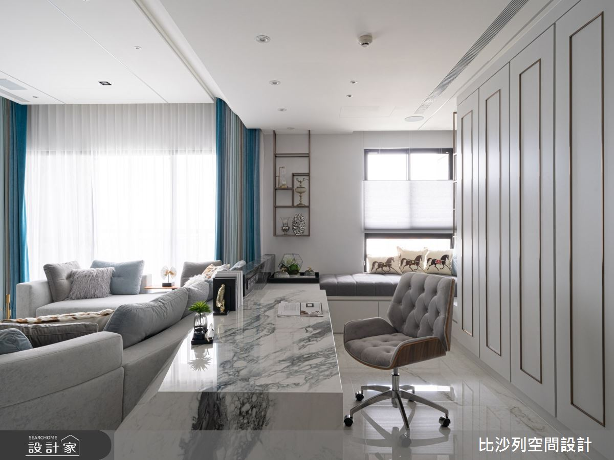 60坪預售屋_混搭風書房臥榻案例圖片_比沙列空間設計_比沙列_18之14