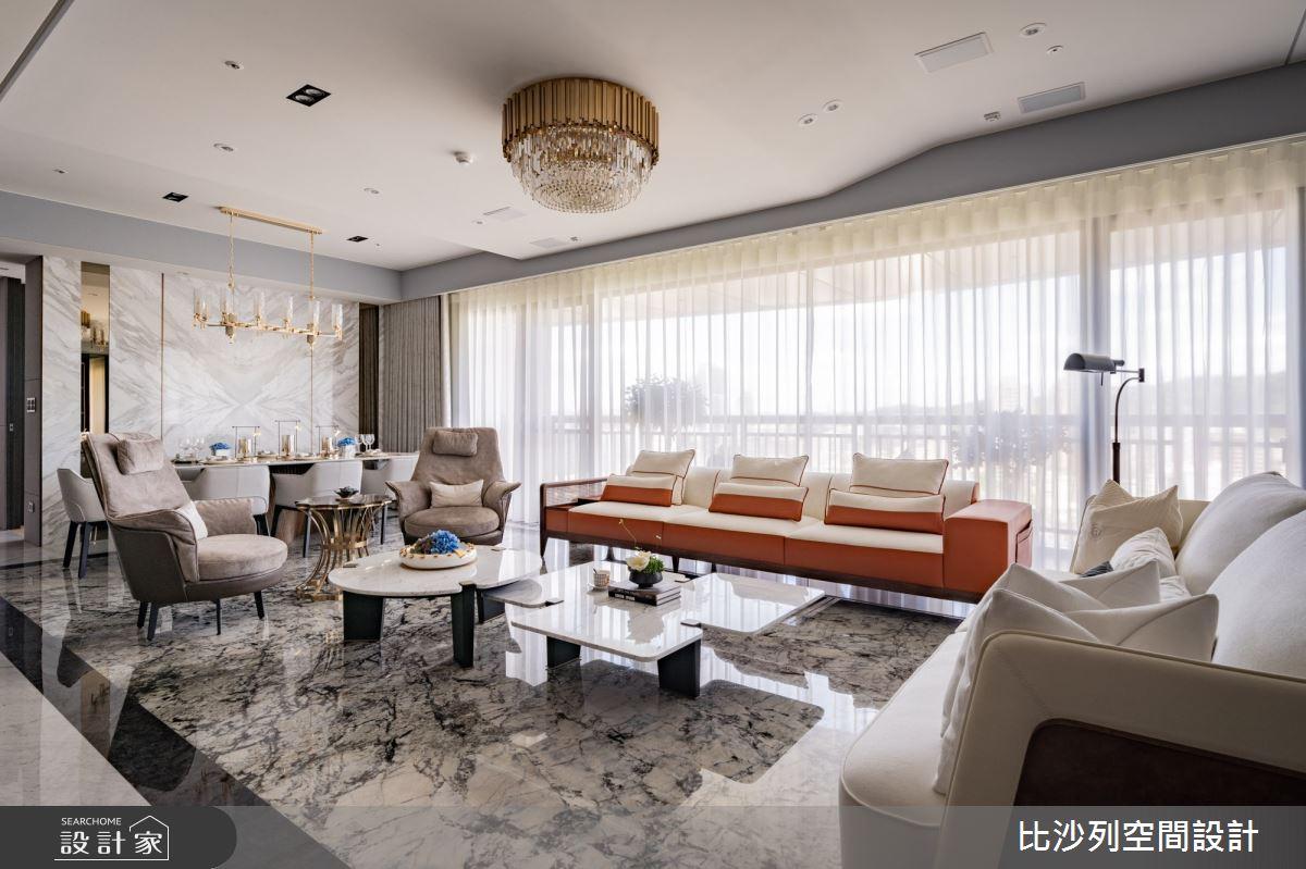 89坪新成屋(5年以下)_奢華風客廳案例圖片_比沙列空間設計_比沙列_19之2