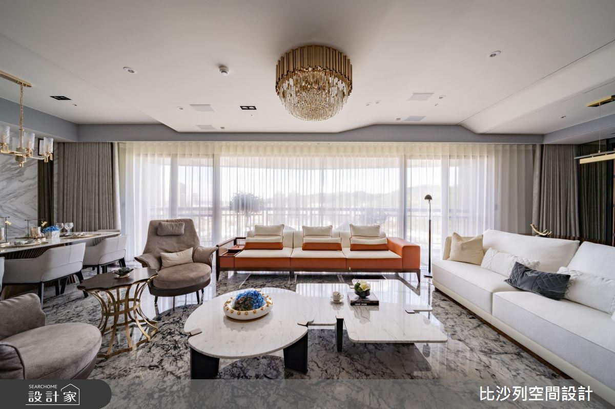 89坪新成屋(5年以下)_奢華風客廳案例圖片_比沙列空間設計_比沙列_19之3