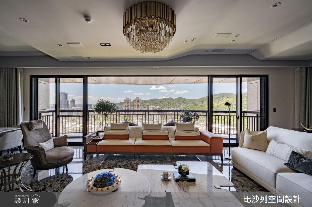 89坪新成屋(5年以下)_奢華風客廳案例圖片_比沙列空間設計_比沙列_19之4