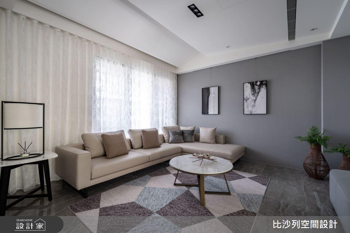 80坪新成屋(5年以下)_現代風客廳案例圖片_比沙列空間設計_比沙列_20之5