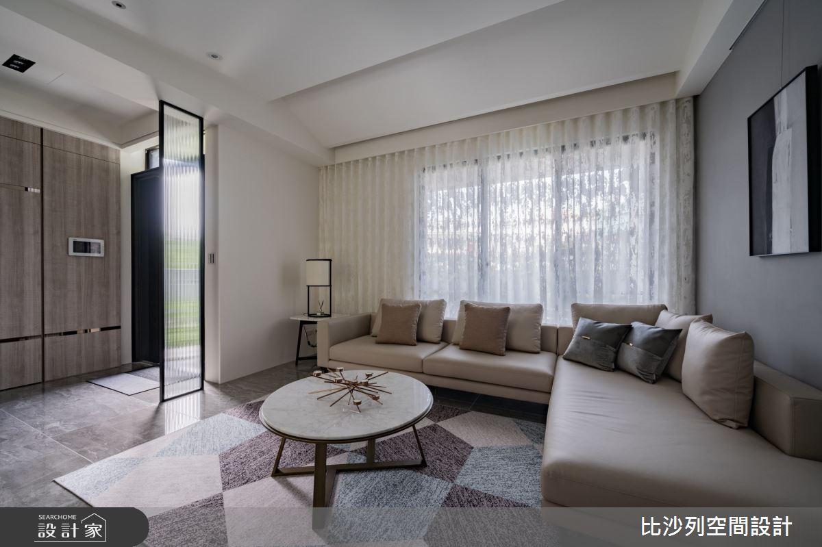 80坪新成屋(5年以下)_現代風客廳案例圖片_比沙列空間設計_比沙列_20之4