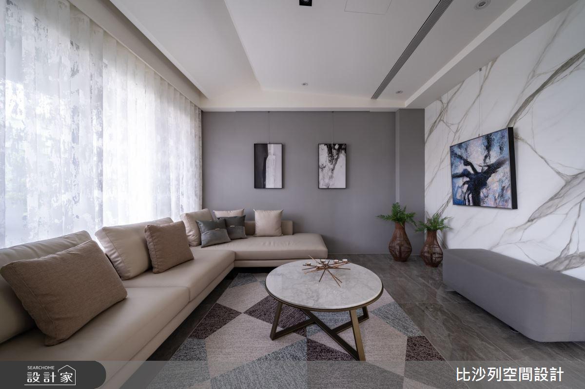 80坪新成屋(5年以下)_現代風客廳案例圖片_比沙列空間設計_比沙列_20之6