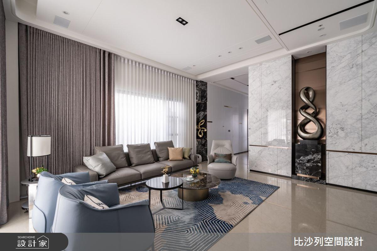93坪新成屋(5年以下)_混搭風客廳案例圖片_比沙列空間設計_比沙列_21之4