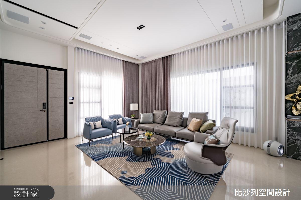93坪新成屋(5年以下)_混搭風客廳案例圖片_比沙列空間設計_比沙列_21之1