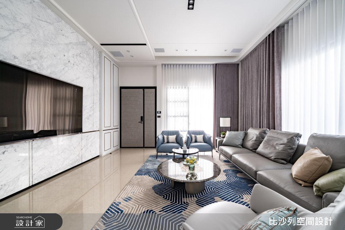 93坪新成屋(5年以下)_混搭風客廳案例圖片_比沙列空間設計_比沙列_21之2