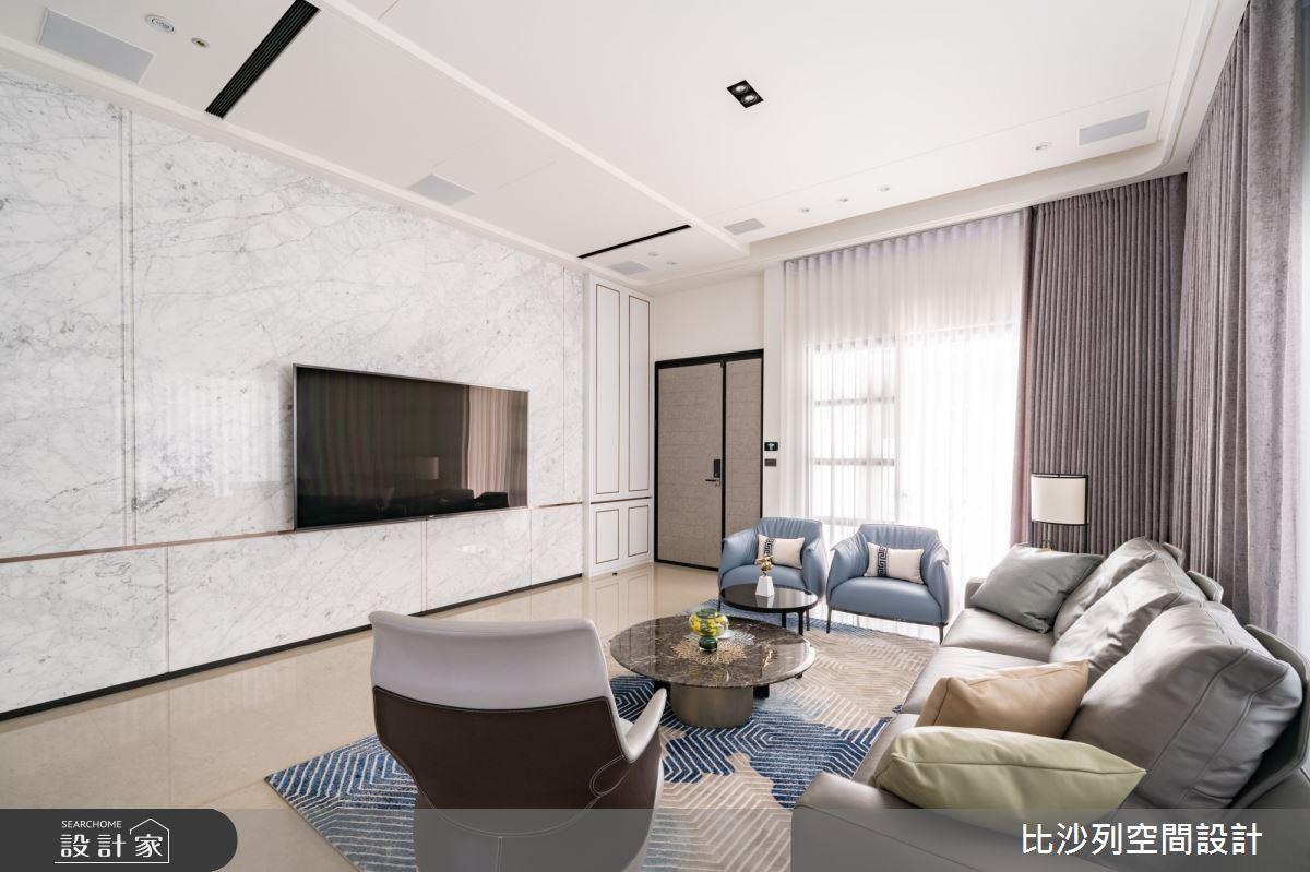 93坪新成屋(5年以下)_混搭風客廳案例圖片_比沙列空間設計_比沙列_21之3