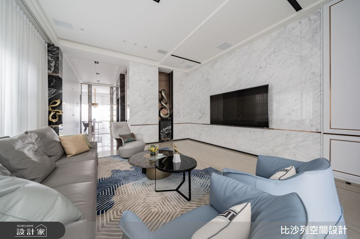 93坪新成屋(5年以下)_混搭風客廳案例圖片_比沙列空間設計_比沙列_21之5